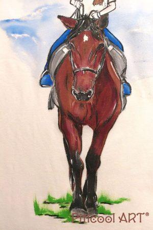 Tricou personalizat - Fetita pe cal - Piticool ART
