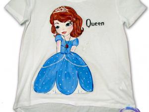 Sofia I tricouri pictate pentru copii