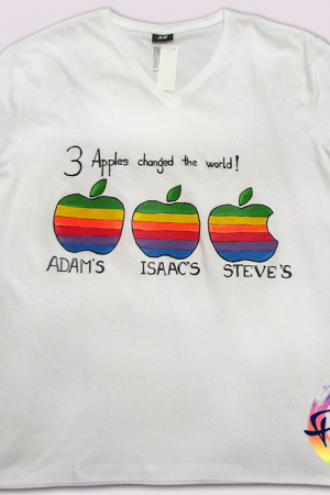 3 Apple tricou pictat manual