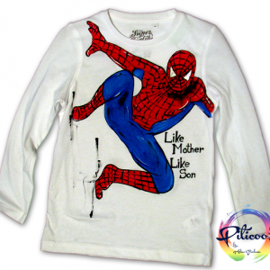 Spiderman tricou pictat manual
