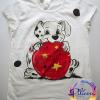 101 Dalmatieni cu mingea tricou pictat manual