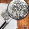 Tricou pictat Elefant Mandala
