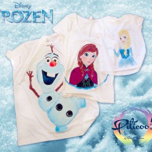 Frozen personaje Elsa Ana Olaf tricouri pictate manual