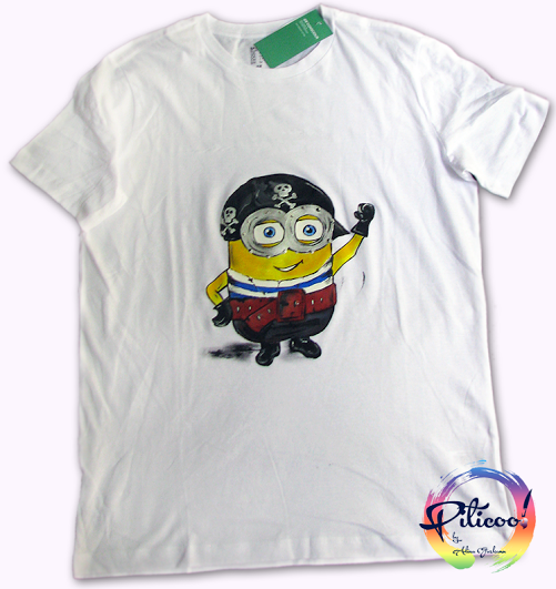 Tricouri pictate pentru adulti Minion pirat