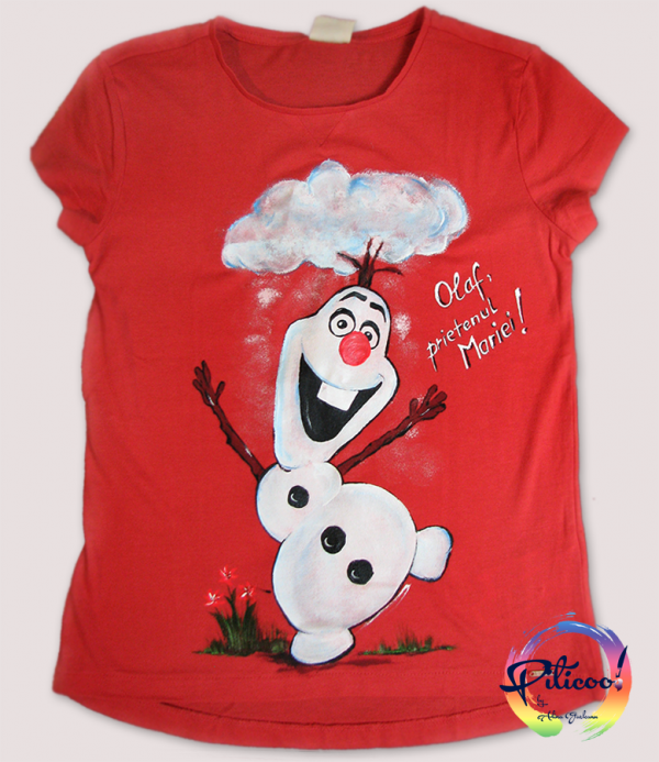 Olaf Frozen tricouri pictate copii