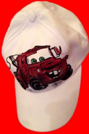 Sapca pictata pentru copii Bucsa Cars