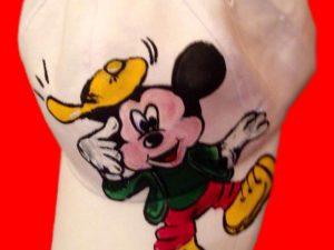 Sapca pictata pentru copii Mickey Mouse