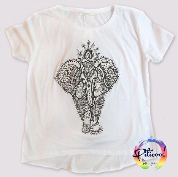 Tricou personalizat Elefant pictat manualTricou personalizat Elefant pictat manual