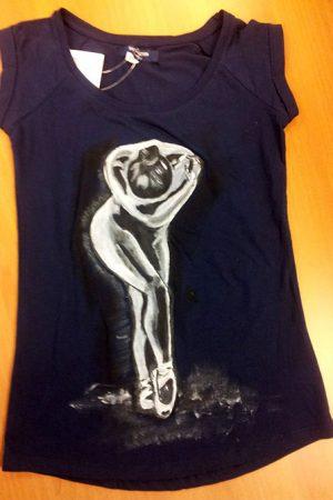 Tricouri pictate pentru adulti Balerina 3
