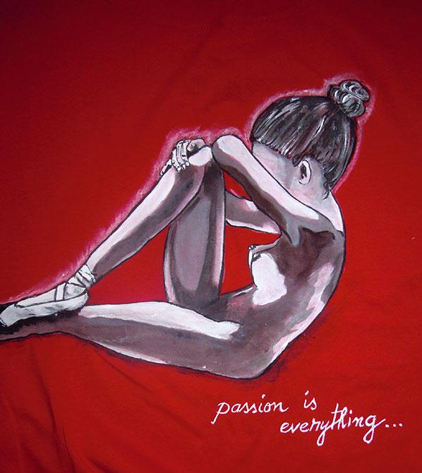 Tricouri pictate pentru adulti Balerina 2
