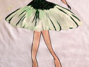 Tricou pictat manual Balerina 3