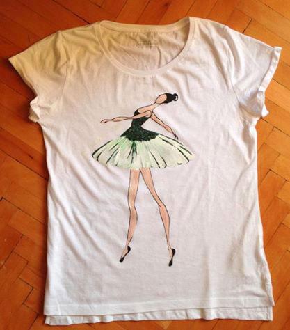 Tricouri pictate pentru adulti Balerina
