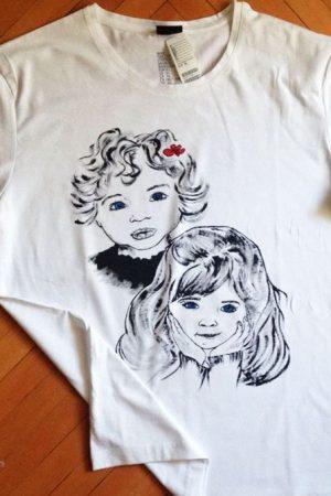 Tricouri pictate manual caricatura Surori