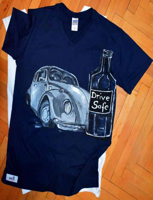 Tricouri pictate pentru adulti Drive Safe