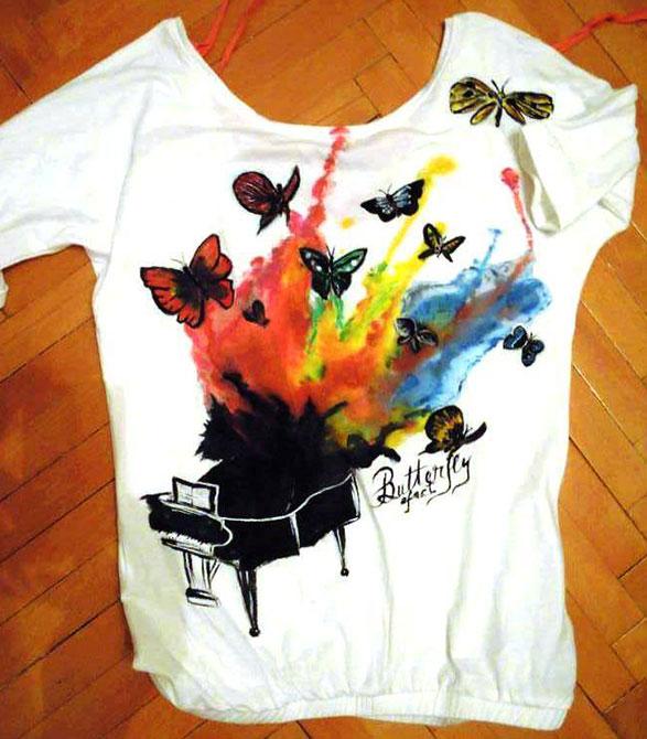 Tricouri pictate pentru adulti Fluturi