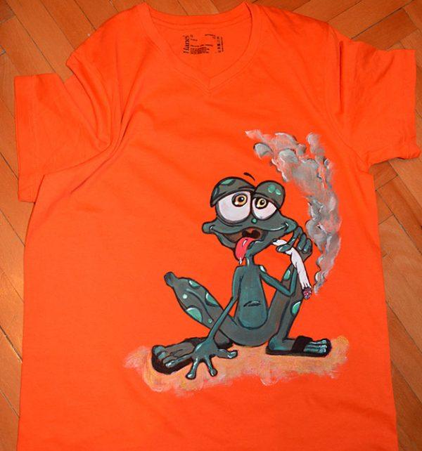 Tricouri pictate pentru adulti Frog
