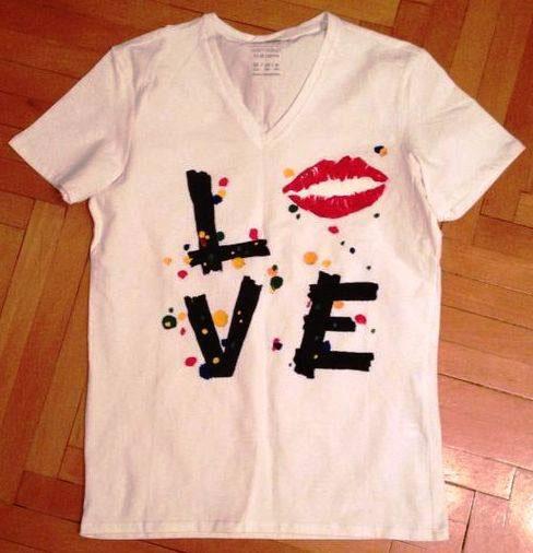 Tricouri pictate pentru adulti Love