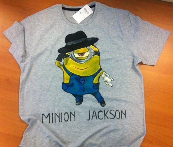 Tricouri pictate pentru adulti Minions Jackson