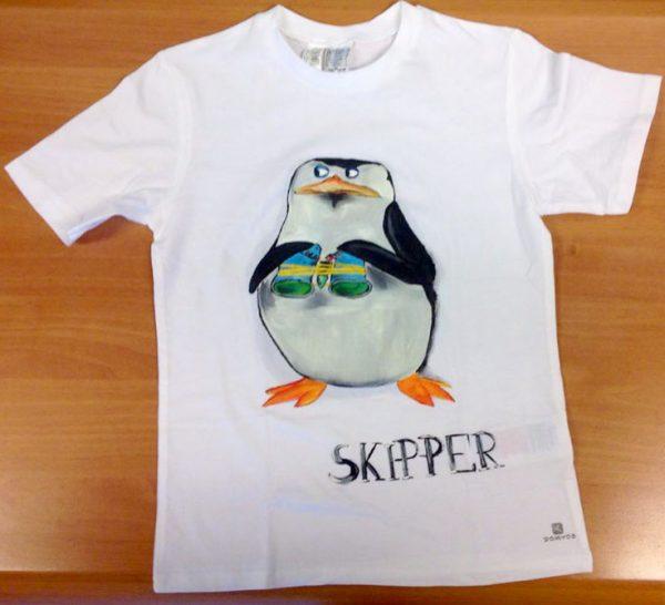Tricouri pictate manual pentru copii Skipper