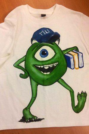Tricouri pictate pentru copii Academia Monstrilor