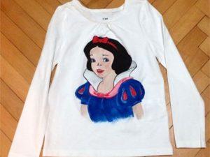 Tricouri pictate pentru copii Alba ca Zapada