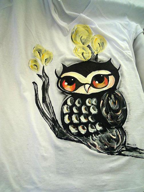 Tricouri pictate pentru copii Bufnita