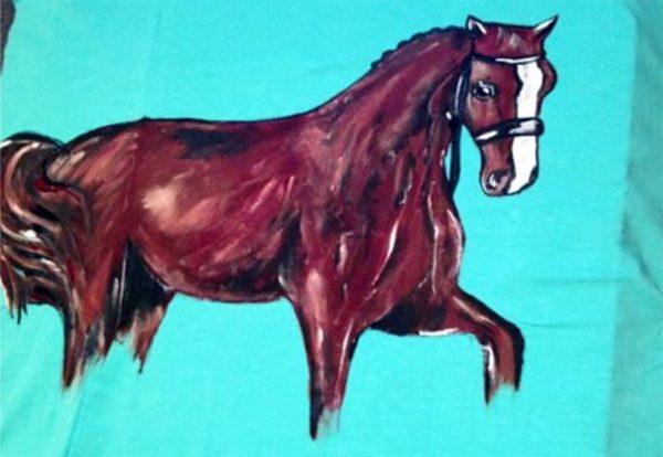 Tricouri pictate pentru copii Cal