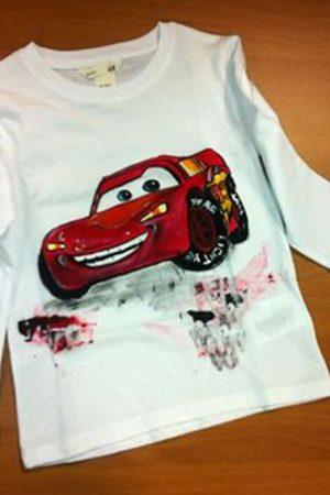 Tricou pictat pentru copii - Cars