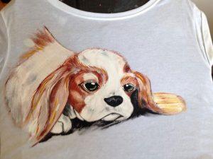 Tricou pictat pentru copii - Catel
