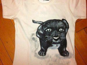 Tricouri pictate pentru copii Catelus
