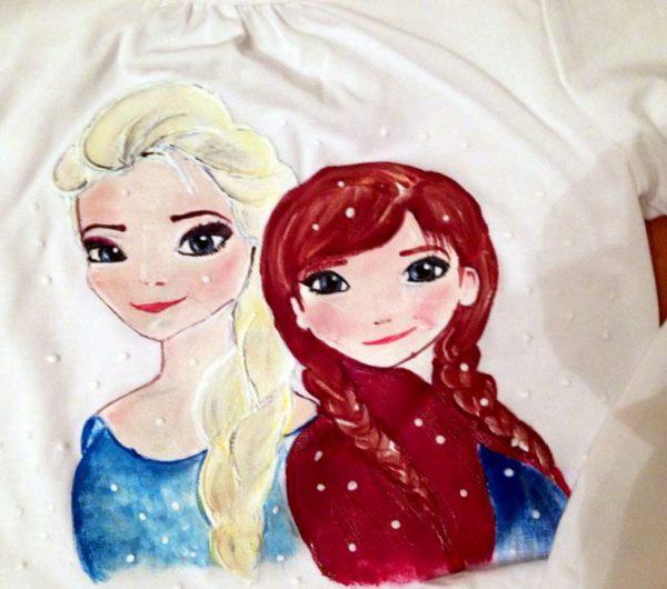 Tricouri pictate pentru copii Frozen