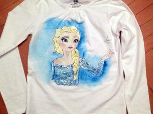 Tricou pictat pentru copii - Frozen