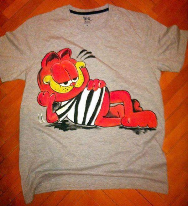 Tricou pictat pentru copii - Garfield
