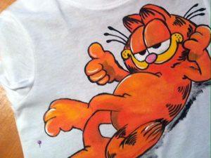 Tricouri pictate pentru copii Garfield