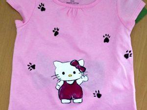 Tricouri pictate pentru copii Hello Kitty