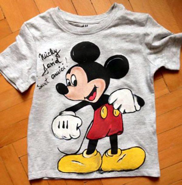 Tricouri pictate pentru copii Mickey Mouse