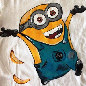 Tricou pictat pentru copii - Minion 1