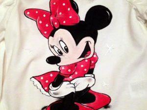 Tricou pictat pentru copii - Minnie
