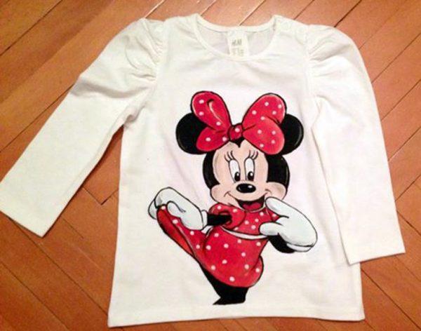 Tricouri pictate pentru copii Minnie