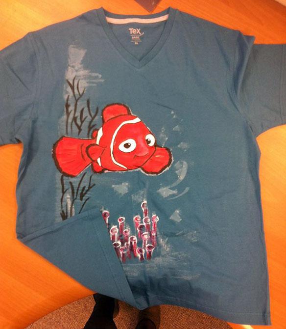 Tricouri pictate pentru copii Nemo