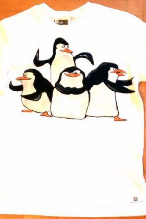 Tricouri pictate pentru copii Pinguinii din Madagascar