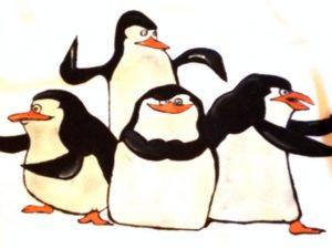Tricou pictat pentru copii - Pinguinii din Madagascar