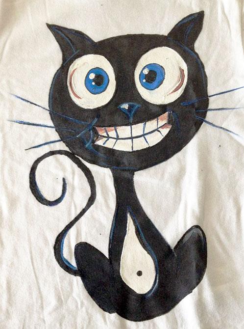 Tricou pictat pentru copii - Mata neagra