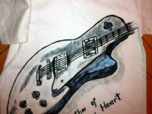Tricou pictat pentru copii Rock