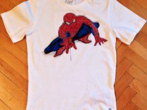 Tricou pictat pentru copii Spiderman