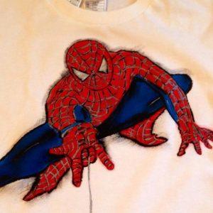 Tricou pictat pentru copii - Spiderman