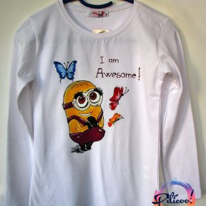 Minion girls tricou pictat manual