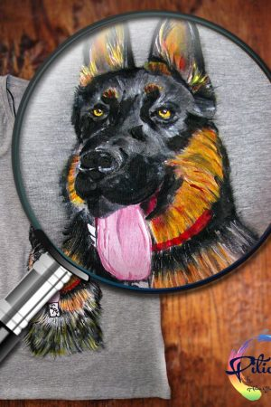 Tricouri pictate manual