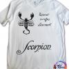 Scorpion negru tricou pictat manual