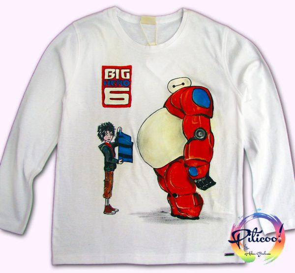 Tricouri personalizate pentru copii Cei 6 eroi pictati